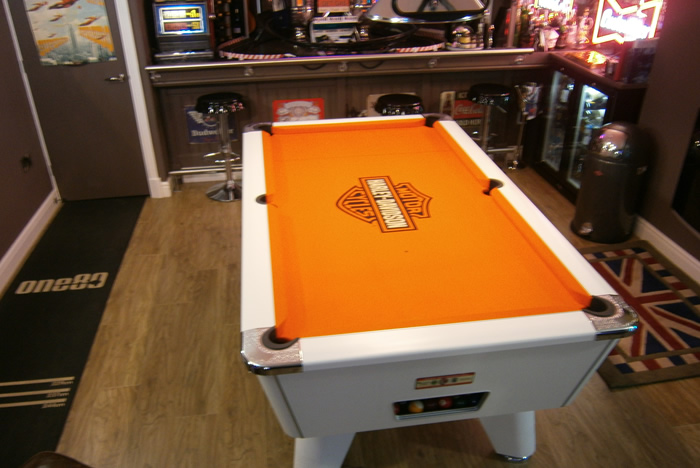 Custom Pool Table Cloths CGQ Snooker Pool Tables - Custom logo pool table felt