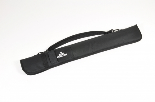 Peradon Black Nylon Short Zip Cue Case for Two Piece Cue (2620)