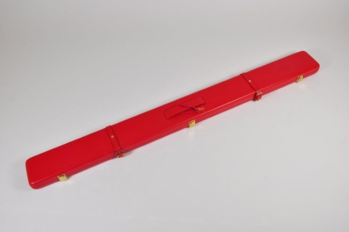 Peradon Leather Cue Case for ¾ Cues and Extensions (2696-RED)