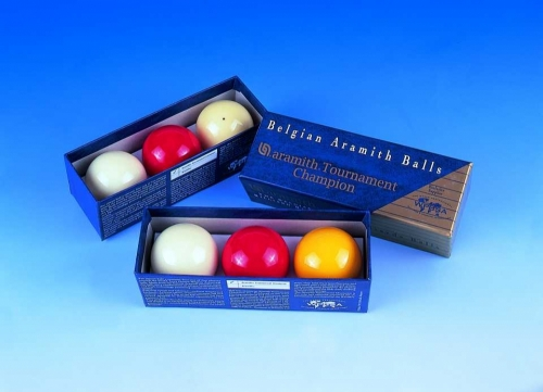 Aramith Tournament Champion English Billiards Balls (Yellow Ball)