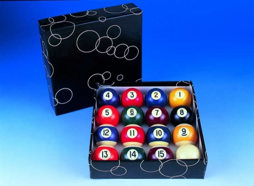 Peradon Economy Engraved Spots'n'Stripes Pool Balls (2 1/4