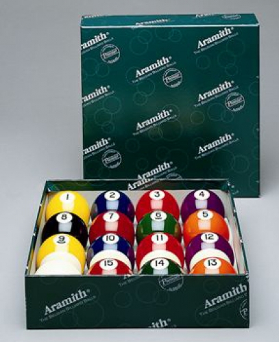"2"" Aramith Spots and Stripes Pool Balls ""Premier"" Engraved"