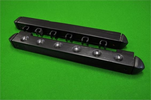 6 Way Black Nylon Clip Black Cue Rack