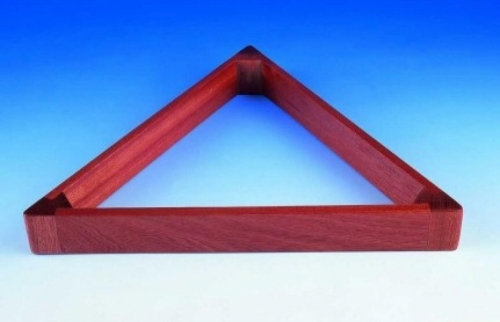 Peradon UK Made Hardwood Mahogany Triangle (2 1/16