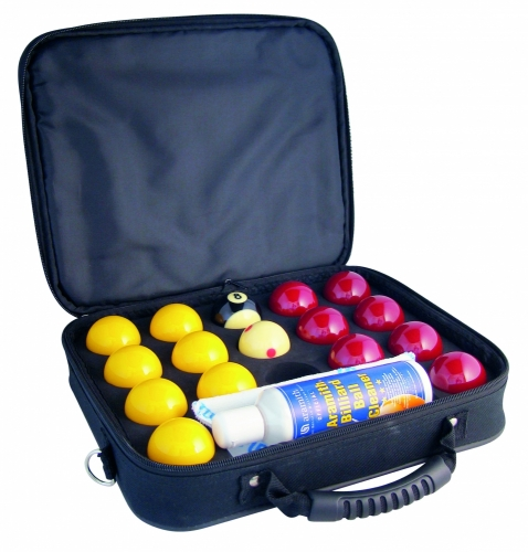 Aramith Super Pro 8 Ball Balls (With Carry Case and Cleaning Products)